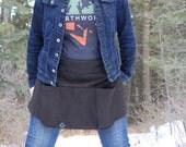 Womans Earthworker Tee Shirt in Dark Gray
