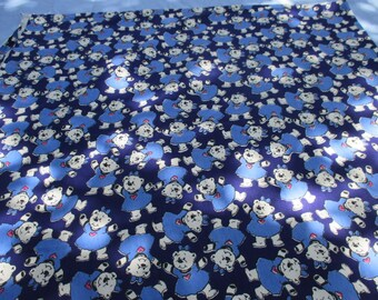 Vintage Sewing Fabric lots of Bears, Sewing Fabric, Dress Material