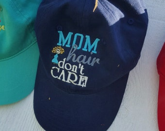 Personalized Mom Hair Don't Care Baseball Cap