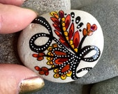 Autumn harvest / painted rocks /painted stones / rock art / hand painted rocks / tiny art / cape cod / autumn art / desk top art /rocks
