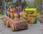 Crayon Bus, Redwood, Crayola Crayons, Heirloom Handmade