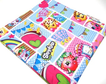 Reusable Sandwich Bag, SHOPKINS Sandwich Bag, SHOPKINS Snack Bag, Waste Free Lunch Option, Girls Snack Bag, Back To School