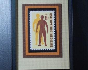 Osteopathic Medicine - Vintage Framed Postage Stamp - No. 1469