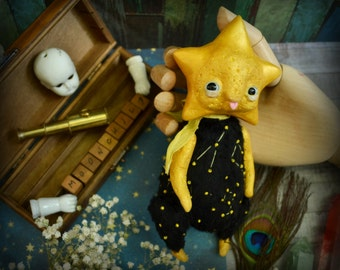 Bright Star - whimsical art doll fantasy creatures