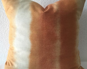 2 Pillow Covers 18x18-Free US Shipping - Richloom Platinum Collection Orange/Cream