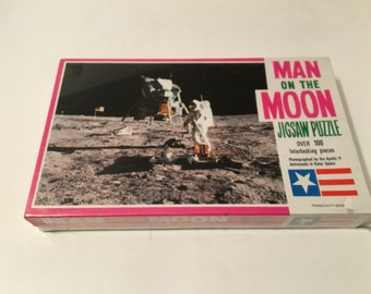man on the moon jigsaw puzzle tranquility base
