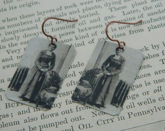 Harriet Tubman earrings mixed media jewelry