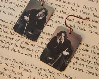 Oscar Wilde earrings mixed media jewelry photography jewelry