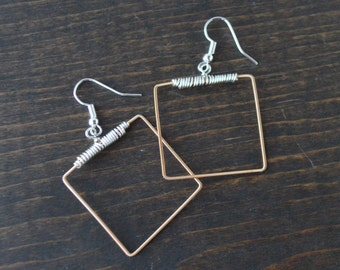 Square Mandolin String Earrings