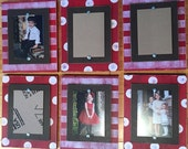 Set of Six Wood Plank Frames, Set of 5x7 Frames, Distressed Picture Frames, Gallery Wall, Wall Collage