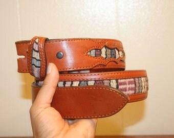 Southwestern Leather Belt,small leather belt,leather belt,small belt,indian belt,multicolor belt,boho belt,belts for women,womens belts,belt