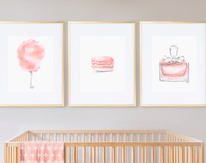 Featured listing image: AS SEEN on PEOPLE.com** Girls Nursery Prints, Girls Room Decor Fashion Prints, Watercolor - Wall Art, Nursery Decor, Sweet Blush