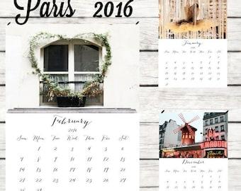 2016 calendar 2016 desk calendar Paris calendar photography calendar Paris 2016 wall calendar A4 calendar 2016 photo calendar 5x7 8x11