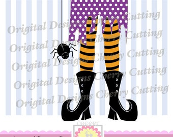 Halloween Witch foot SVG,Halloween witch legs SVG, Silhouette Cut Files, Cricut Cut Files DIGICUT08 -Personal and Commercial Use