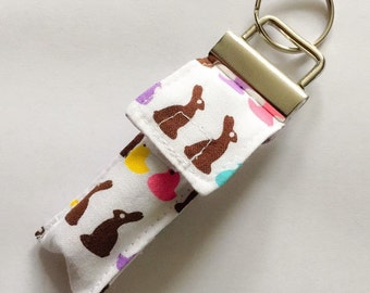 Keychain Chapstick Holder in Peeps and Bunnies