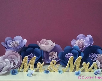 Mr & Mrs Wedding Signage/Freestanding Sign/ Wedding Reception Decor/ Party Decor
