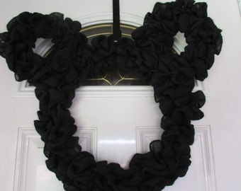 Burlap Mickey Wreath