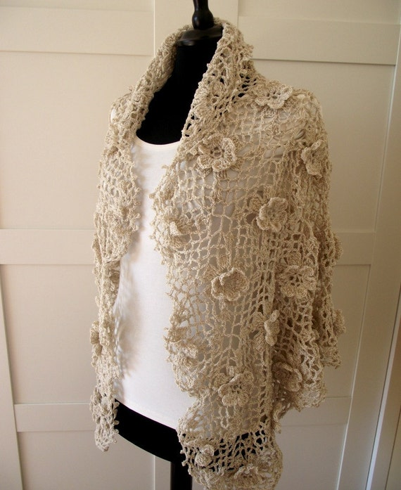 Crochet Lace Wedding Shawl Pattern : CROCHET PATTERN SHAWL Josephine Shawl crochet pdf pattern