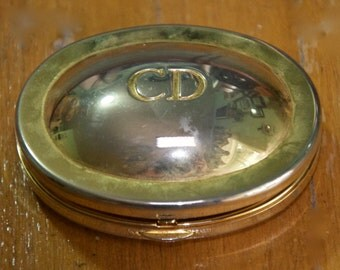 Vintage Authentic Christian Dior Metal Compact