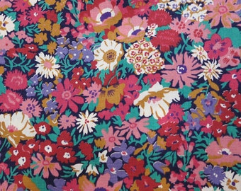 Vintage LIBERTY of LONDON Tana Lawn Cotton Fabric 'Thorpe' Floral Autumn/Fall Fat Quarter 18x17 in