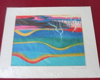 Abstract Surf Art- colorful surf art print- Beach Decor