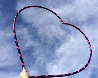 Push button COLLAPSIBLE  Heart Hula Hoop grip or untaped
