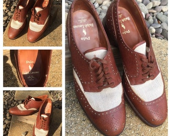 Men's  Bench Made RALPH LAUREN Shoes - Leather & Mesh - Bespoke  Ralph Lauren POLO Shoes - Made in England - Mens Uk Size 8.5 D/Us Size 9