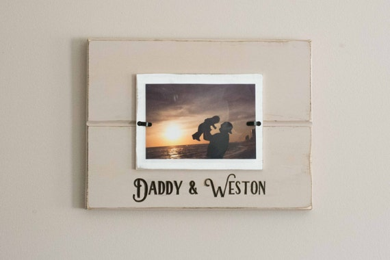 Daddy and me Picture Frame, Father's Day Gift, Custom Painted Frame, Personalized