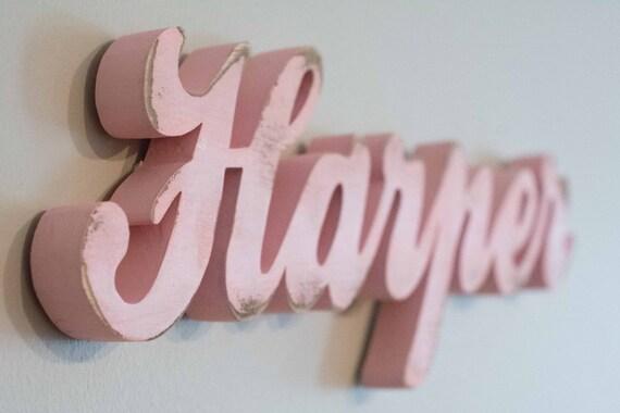 Baby Name Wood Sign- Nursery, Custom Wood Name, Home Decor