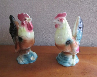 Royal Copley Rooster and Hen