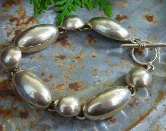 VINTAGE MEXICAN STERLING heavy bracelet