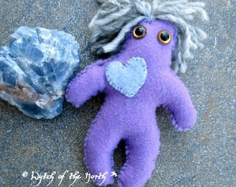 URANUS Planetary Magick Herbal Poppet - Handmade Rustic Plushie, Felt Doll, Pagan Doll, Freedom, Hope, Intuition, Motivation