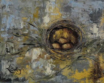 Nesting Original Painting by Kelly Berkey