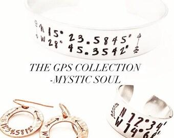 Custom Coordinate Bracelet.GPS Coordinate Bracelet