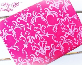 Fabric Destash/SALE Bright Pink Damask by Brother Sister Design Studio Fabric