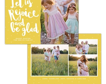 INSTANT DOWNLOAD - Easter photo card | Let us rejoice - E1265