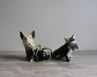 Pair of Vintage Scottie Dog Figurines