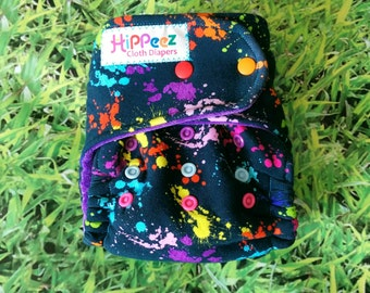 One-Size Fitted Cloth Diaper - Splatter Print