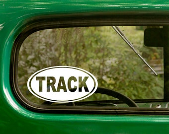 Track Decal, 2 Stickers, Car Decal, Track and field Sticker, Laptop Sticker, Oval Sticker, Bumper, Vinyl Decal, Car Sticker