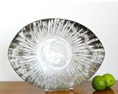 Vintage Dorothy Thorpe Silver Art Glass Decorative Bowl Atomic Mid Century Mod MCM