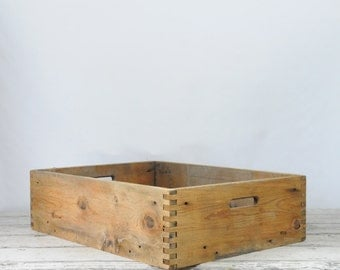 Vintage Wood Box Crate Wood Box Nursery Plant Shipping Crate Wood Box
