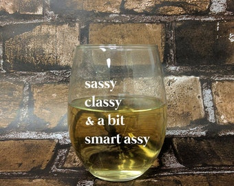 Smart Assy Stemless White Wine Glass