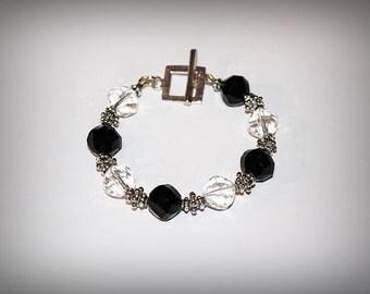 Glass Transparent and Black Bracelet