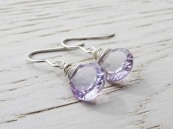 Silver & Amethyst Earrings - Sterling Silver