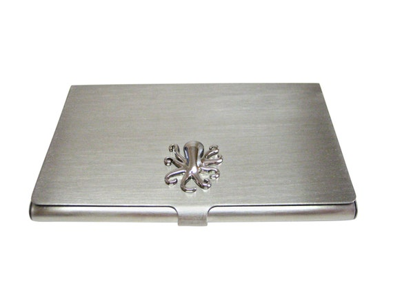 Silver Toned Octopus Business Card Holder