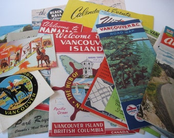 Vintage Lot of Vancouver BC Maps and Attractions