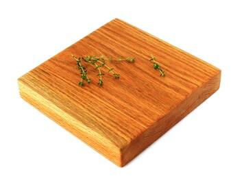 "Butcher Block Cutting Board - Oak - 9-1/2""x9-1/2""x1-3/4"" - Ready to Ship"
