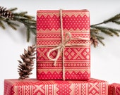 Winter Sweater - Red / Wrapping Paper / 3 Sheets
