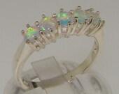 Platinum Natural Opal Womens Eternity Ring  Customizable Platinum9K10K14K18K Yellow Rose or White Gold