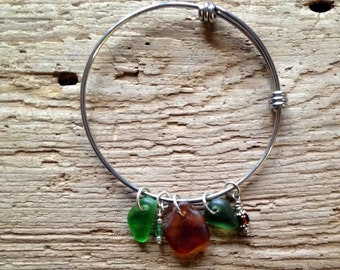 Lake Superior Beach Glass Bracelet